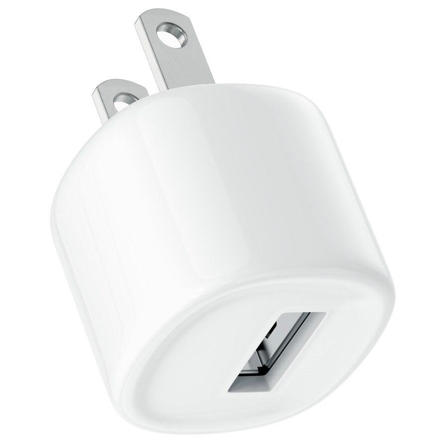 محول حائط USB صغير عالمي مع قابس أمريكي ، شاحن سفر ، طاقة 5 فولت 1 أمبير ، لهاتف iPhone Samsung S8 Xiaomi Android ، 500 قطعة