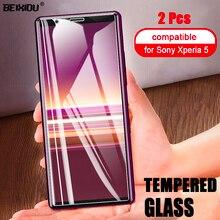 2 pièces verre trempé complet pour Sony Xperia 5 protecteur décran 2.5D 9h verre trempé pour Sony Xperia 5 Film de protection