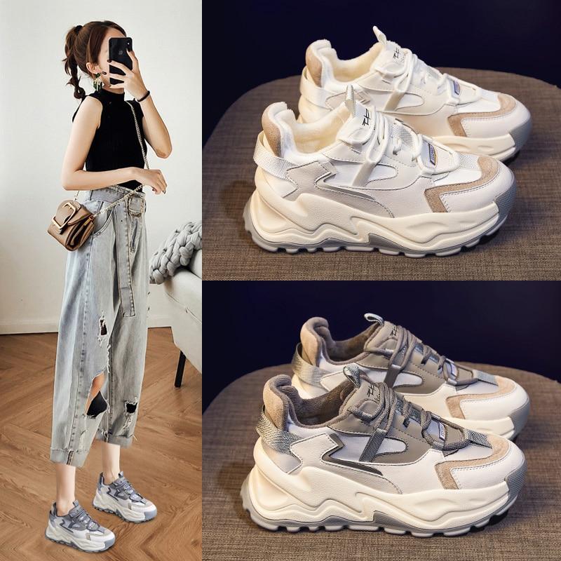 حذاء رياضي نسائي ، حذاء رياضي كاجوال عصري ، 2021