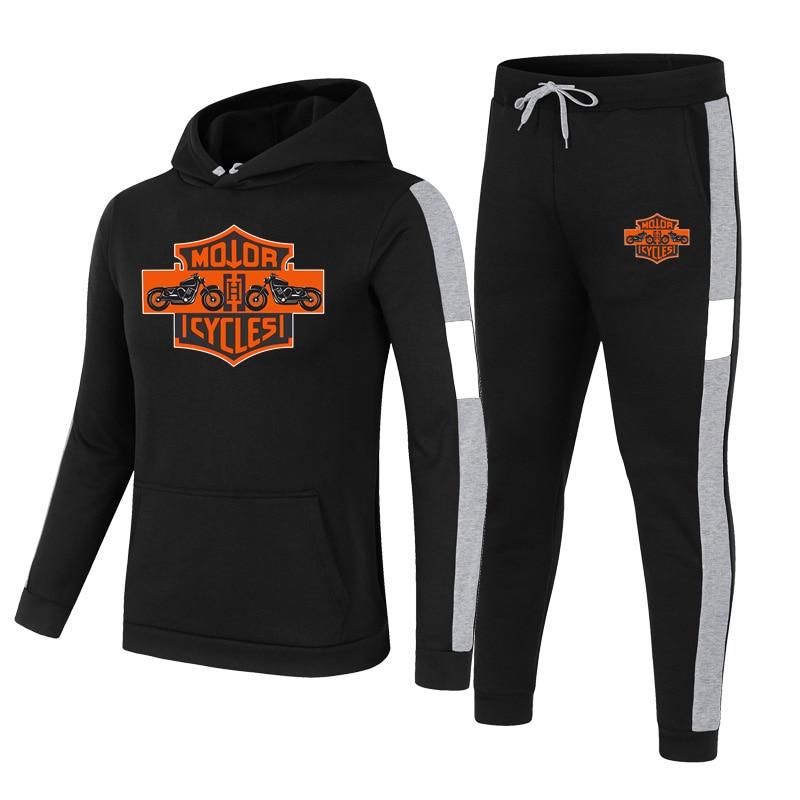 2021 brand sportswear men's fashion hoodie 2021 men's suit sweater + sweatpants spring and autumn %100 cotton two-piece suit