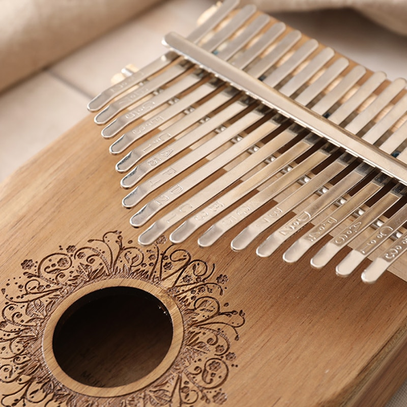 High-Quality 17 Keys  Kalimba Thumb Piano Mahogany Body Musical Keyboard instrument  for Beginners with Full set of accessories enlarge