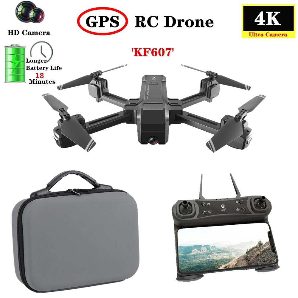 KF607 GPS Drone con 5G WIFI FPV 4K HD ancho ángulo CES Cámara GPS de flujo óptico siguientes Quadcopter 2,4G WIFI FPV HD 1080P Cámara