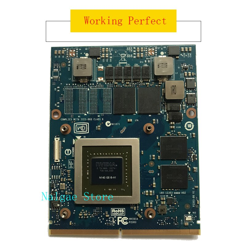Original GTX765M GTX 765M Graphics Video Card 2GB For IMAC A1311 A1312 Dell Alienware M17X M18X 9R3F5 GDDR5 N14E-GE-B-A1