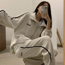 Spring Younger Fashion Western Suit 2021 New Women's Salt Fried Street Casual Sports Style Two-Piece