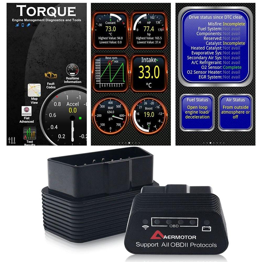Wifi Bluetooth ELM327 OBD2 II Auto Diagnostica Strumenti di Pic18f25k80 Per Chevrolet Citroen Peugeot Dodge Jeep Chrysler Adattatore Scanner