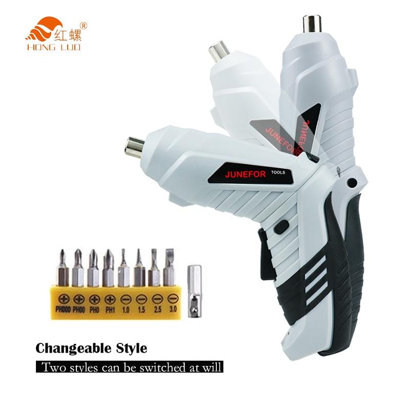 3,6 В мини набор электрических отверток, умные беспроводные электрические отвертки, USB перезаряжаемая ручка с набором из 15 бит, дрель