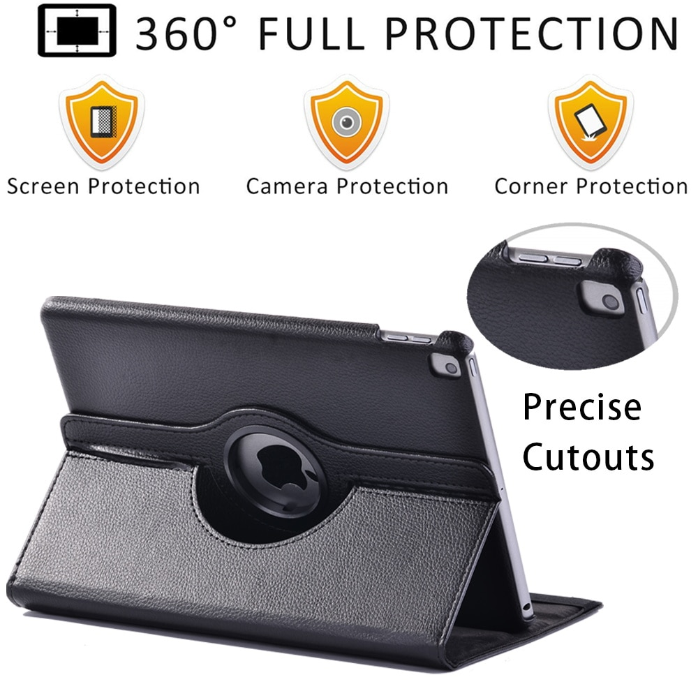 Tablet Case for Apple IPad Air 4/Air 1/Air 2/Air 3 360 Rotating Leather Stand Cover Case + Free Stylus enlarge