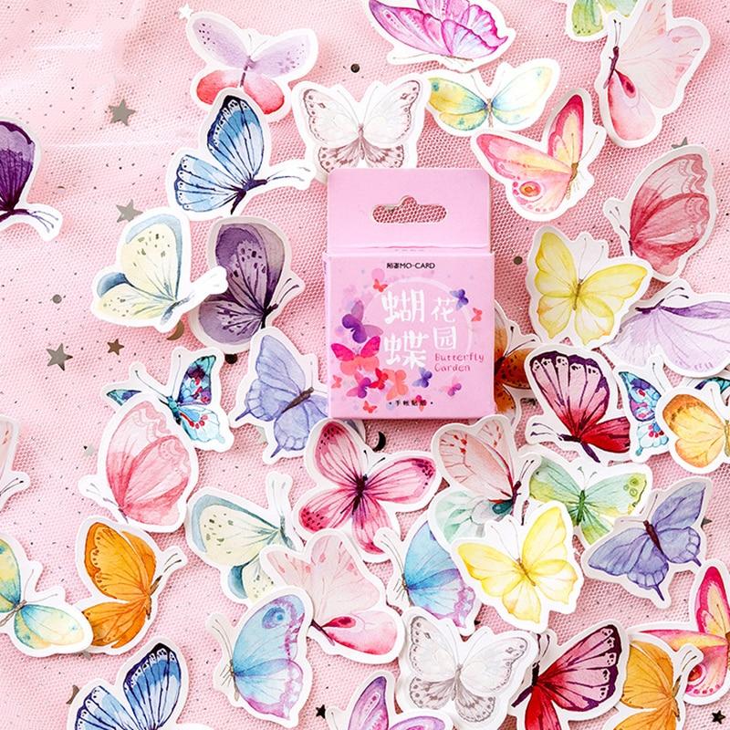 46-unids-caja-de-papeleria-creativa-pegatinas-encantador-adhesivo-pegatinas-para-ninos-album-de-recortes-diario-foto-albumes-lindo-mariposa-pegatinas