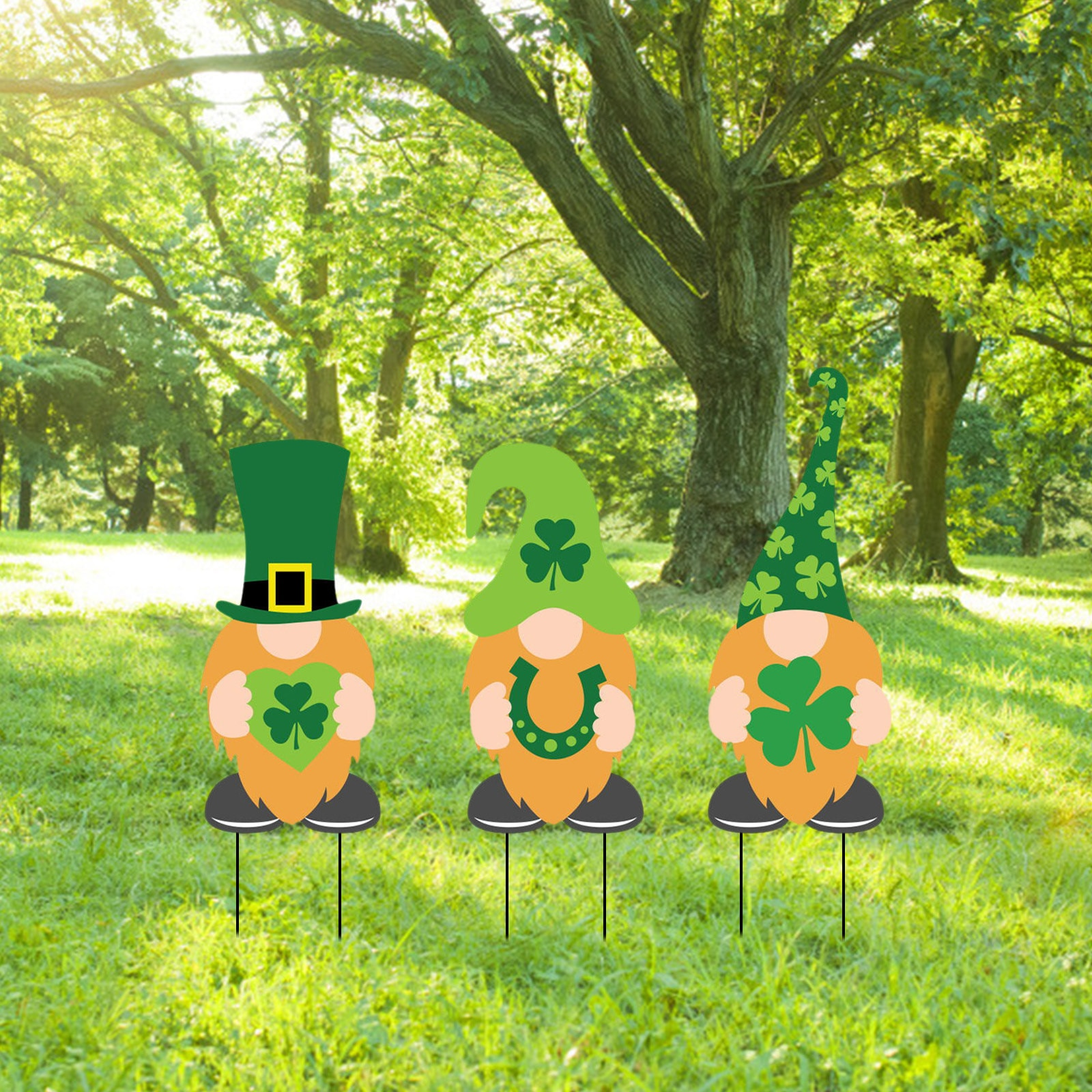 St.Patrick's Day Party Yard Signs Stakes Holiday Party Supplies Adorable Sign Patterns Outdoor Yard