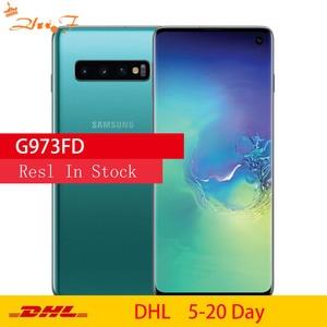 Samsung S10 G973FD оригинальный мобильный телефон Octa Core 6,1