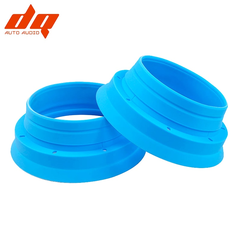 2pcs Foldable Silicone Baffles Car Audio 6.5 Inch Speaker Waterproof Cover Sound Insulation Seal Mou
