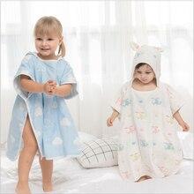 Baby Towels Muslin Squares Cotton Baby Bath Towel Hooded Newborn Bath Towels Kid Beach Towel Infant Bathrobe for 0-6 Years Stuff