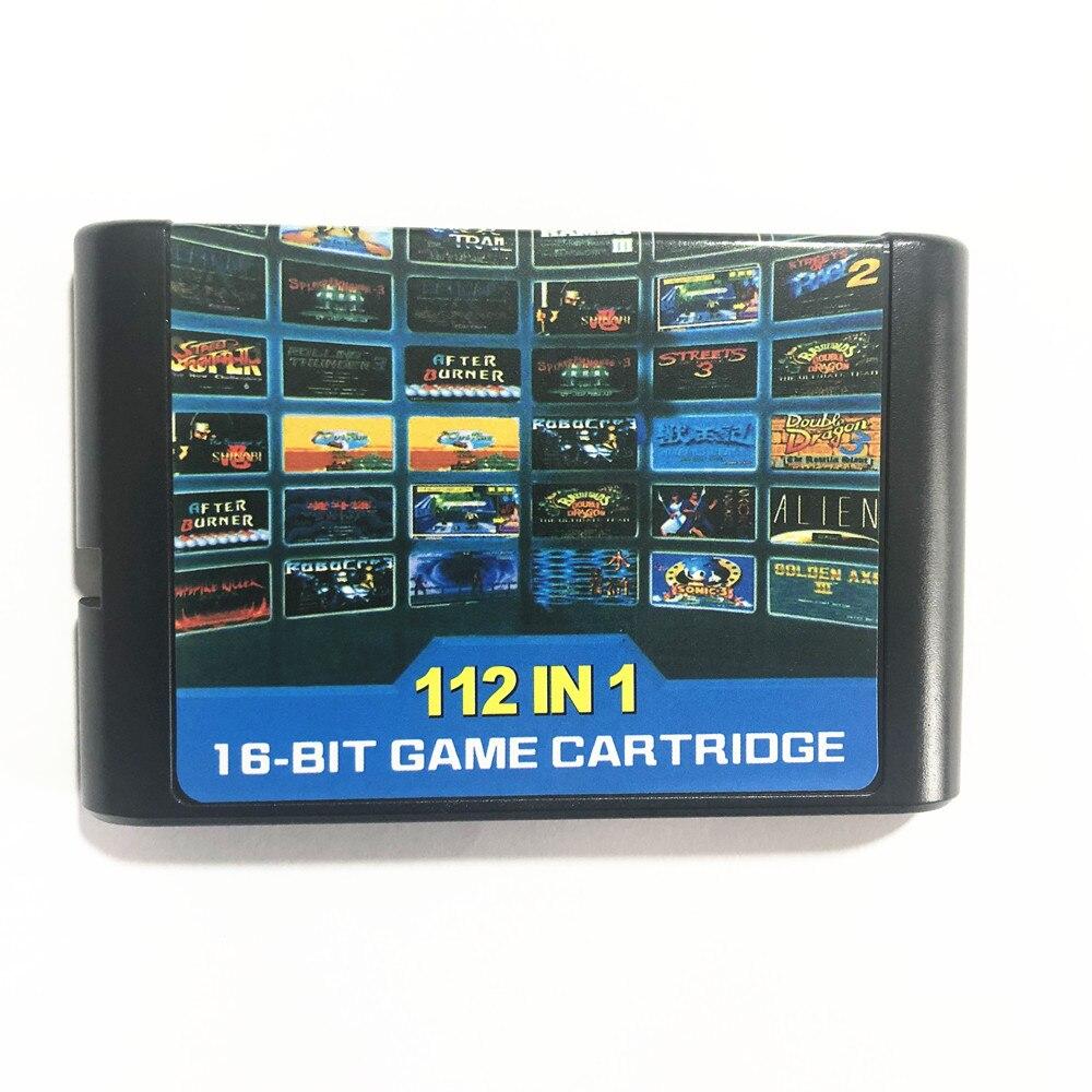 Super 112 in1/contra corpo duro/ristar/ninja gaiden/splatter house23/sonic/gancho 16 bit cartão de jogo para mega drive para genesis