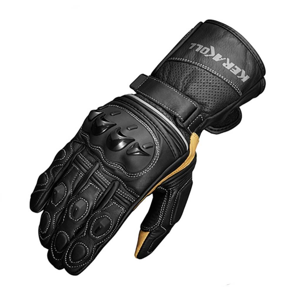 KERAKOLL, настоящие кожаные мотоциклетные перчатки, мужские зимние перчатки, длинные запястья, мужские гоночные перчатки для мотокросса, ралли,...