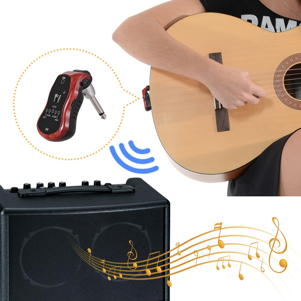 Wireless Guitar Transmitter Audio 6 Channels B6 5 in 1 2.4G Guitar Wireless Transmitter Receiver for Electric Guitar Bass enlarge