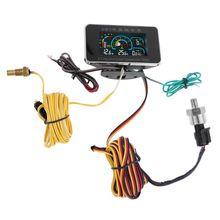 4 en 1 LCD voiture numérique alarme jauge voltmètre pression dhuile carburant eau Temp 12-24V