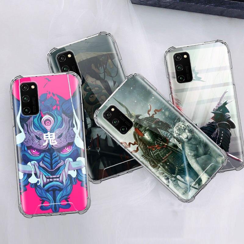Samurai máscara de hannya funda para Huawei Honor 20 20s 10 Lite 9X mundial V30 8X 8S jugar 3 DE AIRE Anti cubierta del teléfono Casos