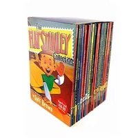 19pcsset the flat stanley collection global adventure childrens picture english reading book comic novel fiction kids gift