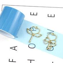 1 rouleau 5cm * 5m pas de Trace époxy UV résine ruban adhésif en papier pour métal cadre creux bricolage artisanat bijoux faisant des outils