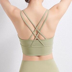 Peachmiss Sports Cross Beautiful Back Bra Running Breathable Gathering Shockproof Casual Yoga Tops Underwear Outer Wear Bra