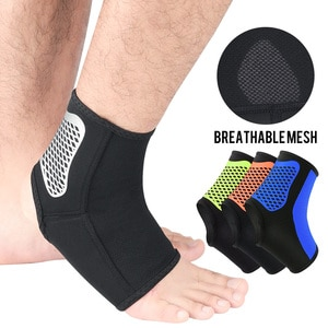 1 Pair Unisex Ankle Support Elastic Fabric Protective Sleeve Prevents Sprain Ligament Used In Running Climbing Walking Travel