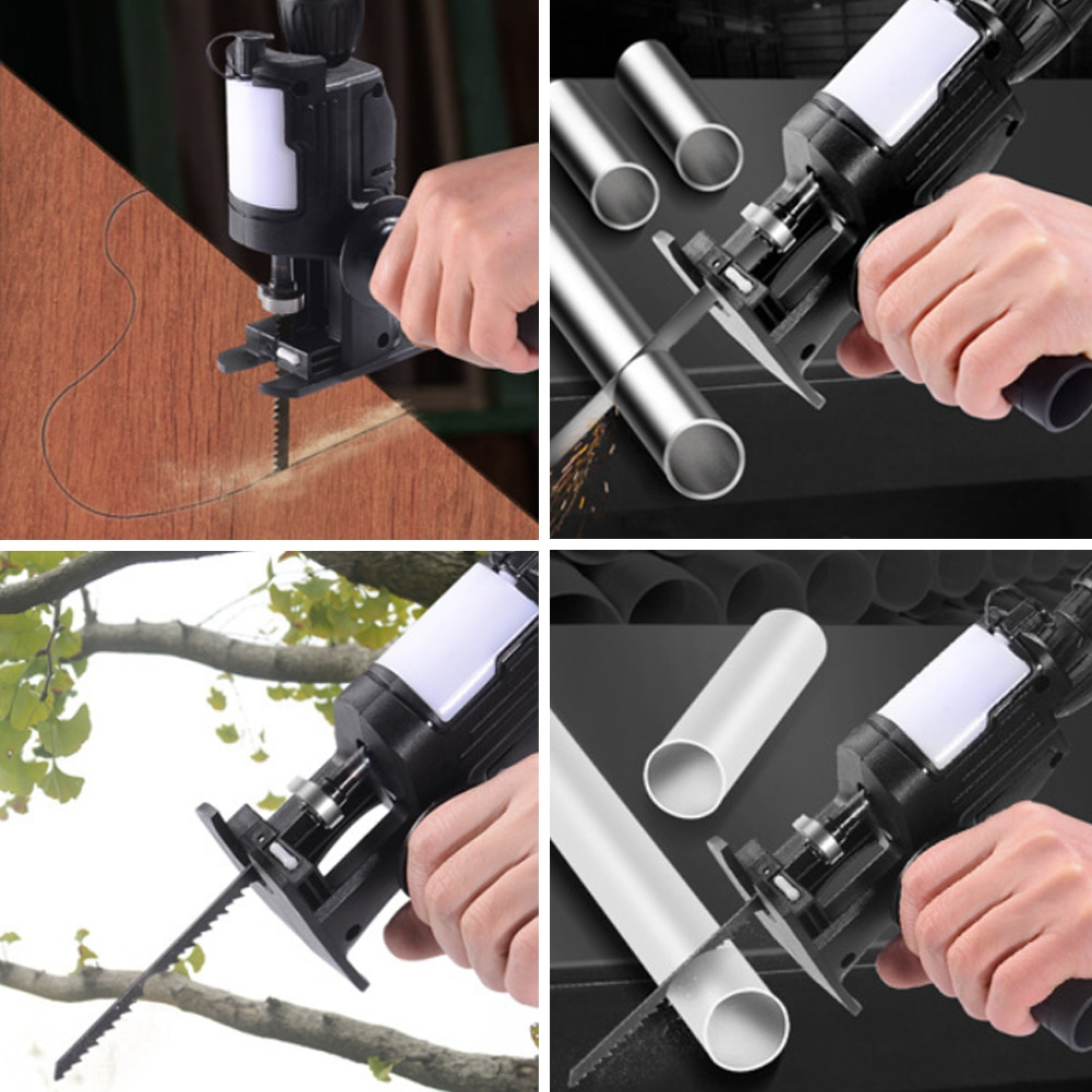 Cordless Reciprocating Saw Adapter Electric Drill to Saw Converter Hand Tool with Lube Container Wood Metal Cutter Saw Adapter