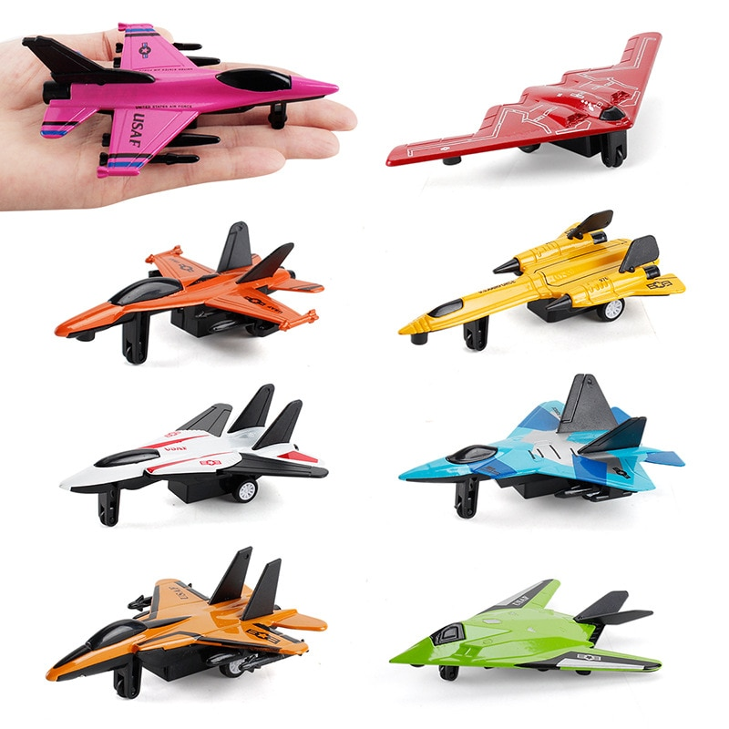 Children's Toy Aircraft Simulation Alloy Fighter Model Pendants Mini J-20 Military Aircraft Model all metal alloy diy assembly aircraft model 1 48 f6f 5 hell cat fighter skeleton puzzle