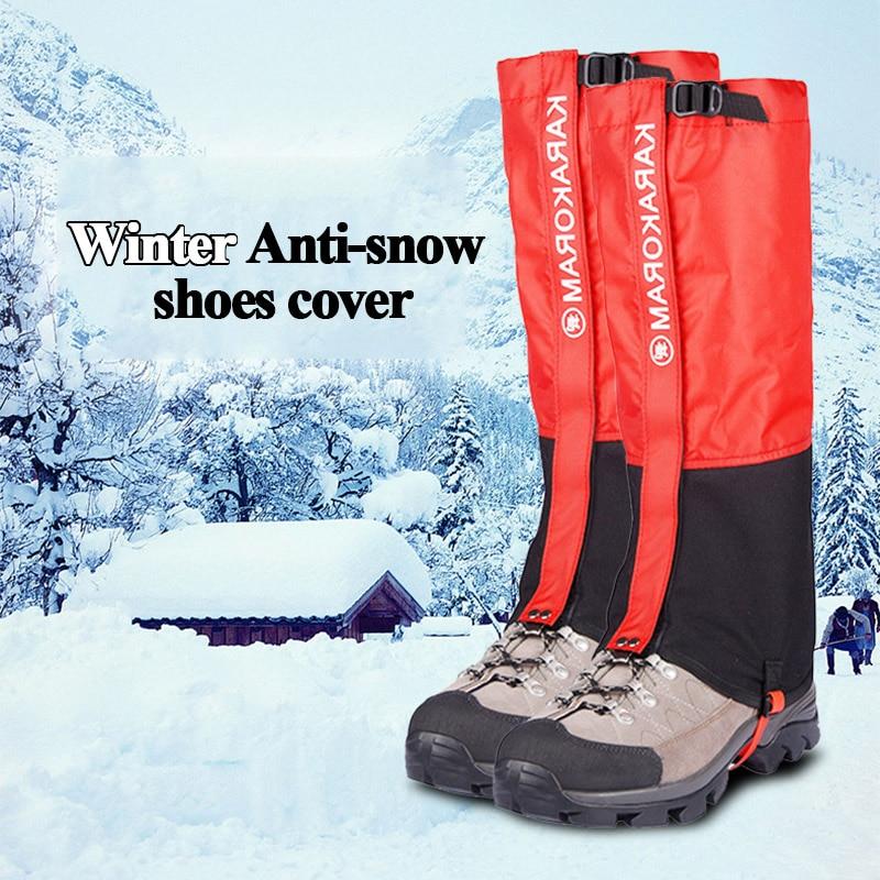 1Pair Universal Snow Leg Gaiter Waterproof Hiking Boot Legging Shoes Sneaker Shoe Cover Tourist Outdoor Camping Trekking Winter