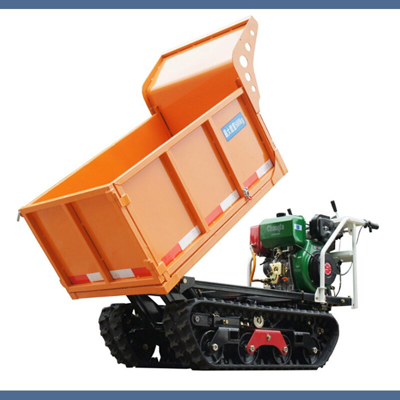 Diesel 10hp Crawler Transport Truck Self-unloading Mountain Construction Site Sandstone Hill Climbing Agricultural Vehicle