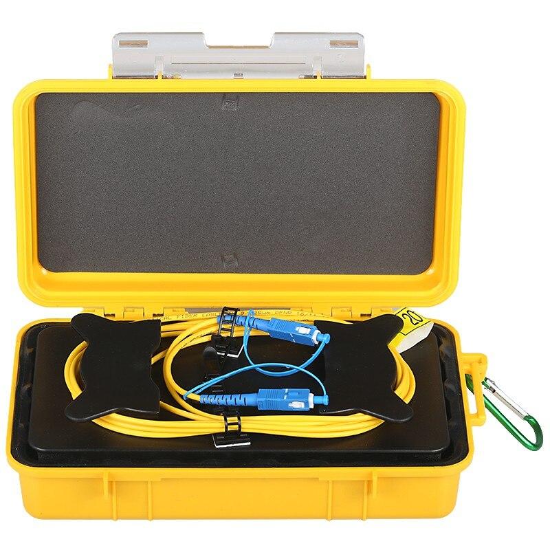 Envío Gratis 500 M/1 km/2 km OTDR lanzamiento caja de Cable SM 1310/1550nm FC/LC/SC/ST UPC/APC OTDR caja de Cable zona muerta Eliminador