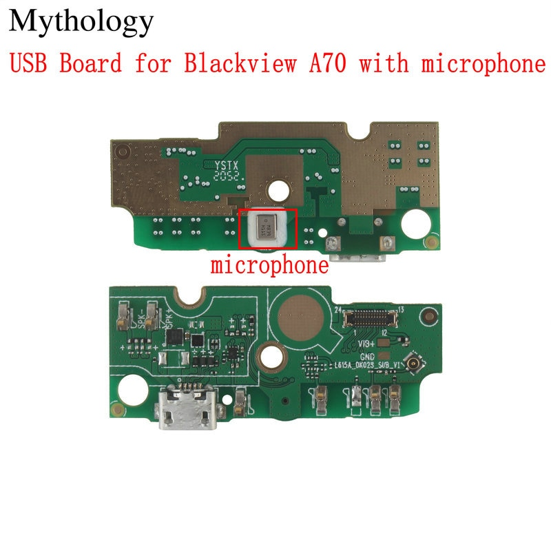 USB Board for Blackview A70 Mobile Phone Circuits Microphone 3GB+32GB Android 11.0 Octa Core Smartphone 6.51'' Accessories