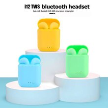 Original I12 TWS Sport Earbuds Headset with Mic for IPhone Xiaomi Huawei Wireless Blutooth Earphones