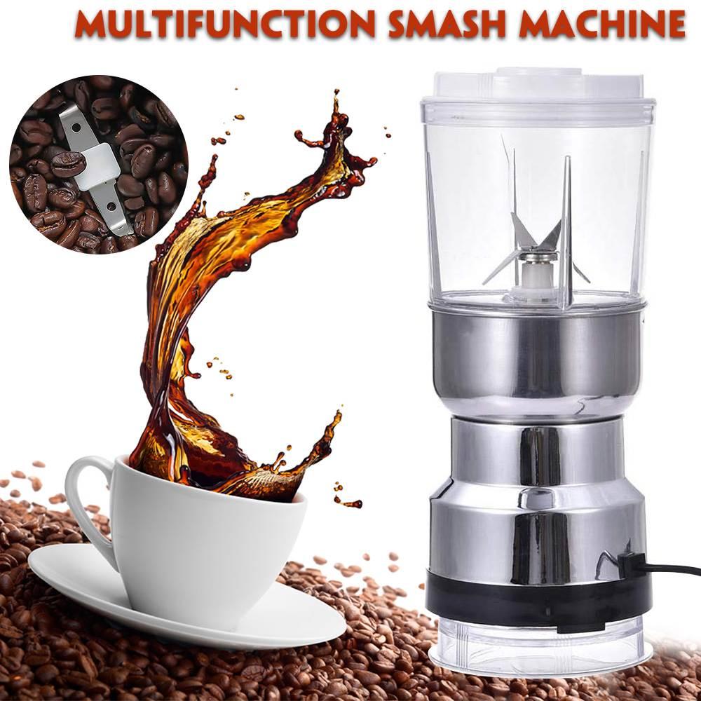 Электрическая кофемолка 2 в 1-измельчение орехов, зерен, специй, блендер, соковыжималка, кухонные инструменты, домашняя кофемолка