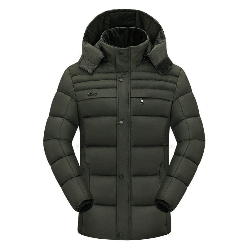 Мужские новые зимние повседневные хлопковые пальто теплые шапки и хлопковая одежда мужские парки мужские зимние пальто с капюшоном пуховы...