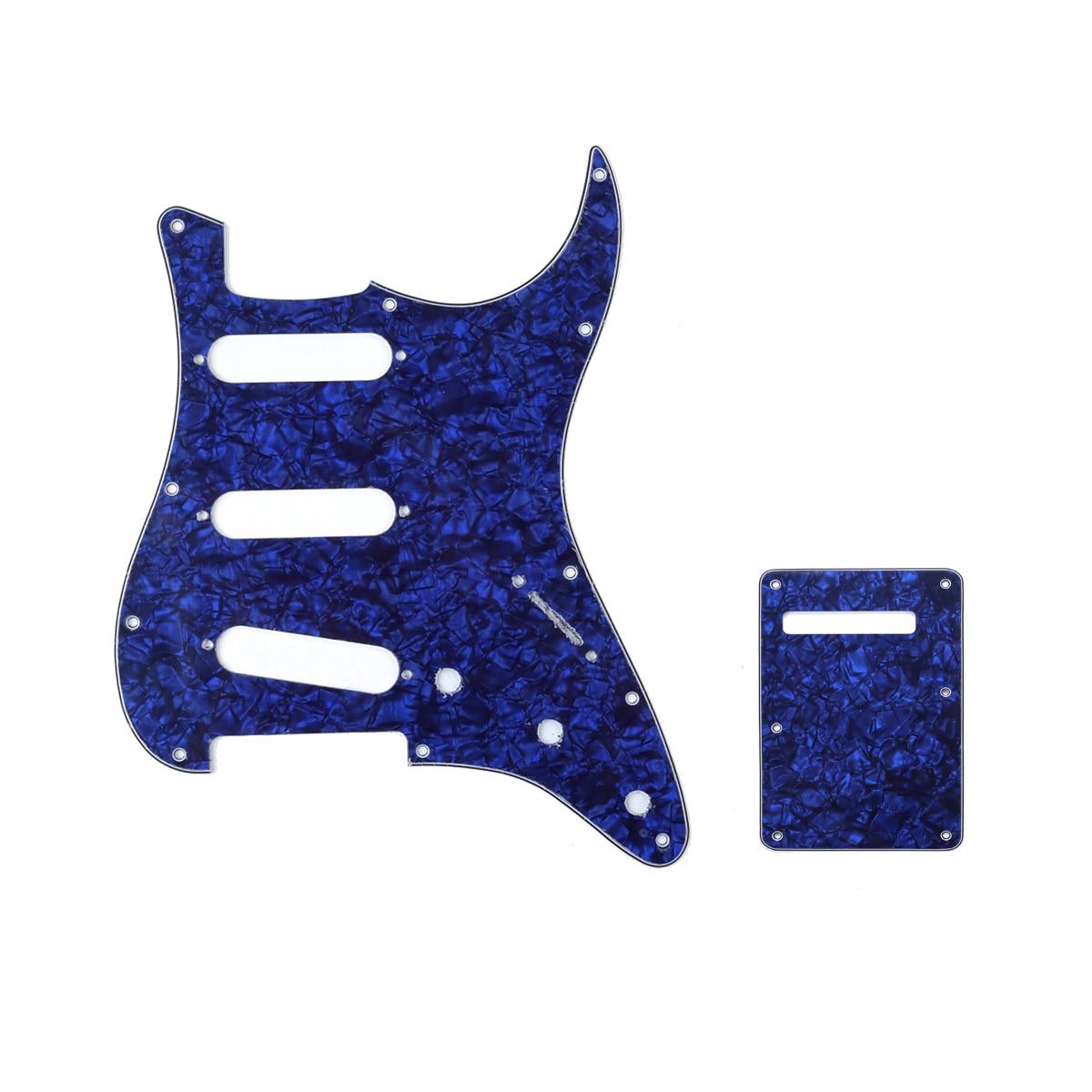 Juego de carcaza y placa trasera de guitarra Strat SSS de 11...