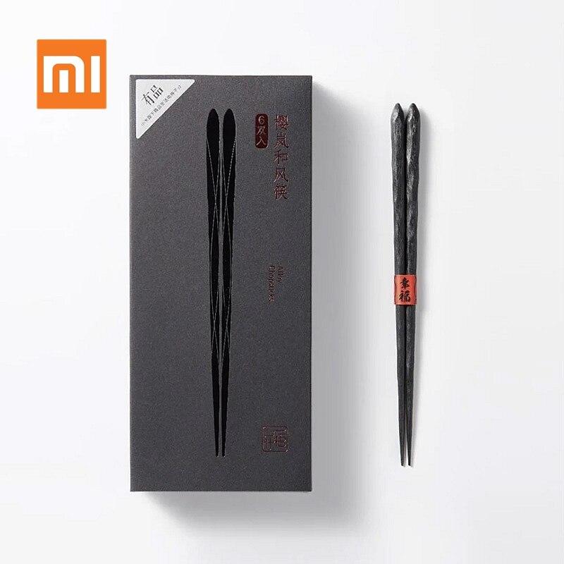 Xiaomi Mijia YingLanHeFeng الصينية عود 6 قطعة/المجموعة الألياف الزجاجية المواد عالية درجة الحرارة المقاومة عيدان