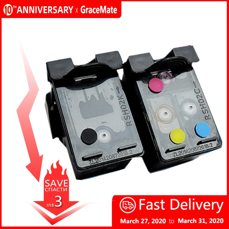 GraceMate 304 304XL многоразовый картридж совместимый для HP Deskjet 3720 3721 3723 3724 3730 3732 3752 3755 3758 принтер