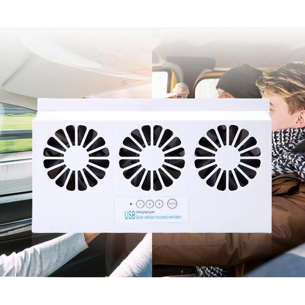 Auto Kühler Vorne/Hinten Fenster Kühler Exhaust Fan Dual-modus Solar/USB Powered Auto Auspuff Fan Auto belüftung Fan