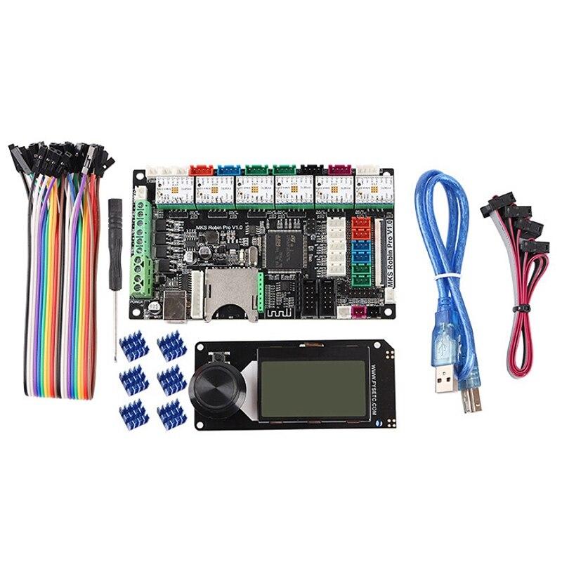 3D Printer Dual Z-Axis MKS Robin Pro Motherboard + TMC2209 + Mini 12864 Screen Kit Marlin