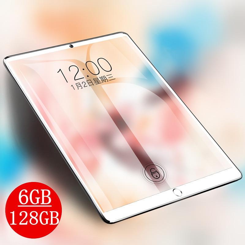 10.1 بوصة IPS 1280*800 اللوحي الجيل الثالث 3G 4G LTE المزدوج سيم بطاقة اللوحي ثماني النواة 6GB RAM 128GB ROM أقراص أندرويد 9.0 بلوتوث لتحديد المواقع