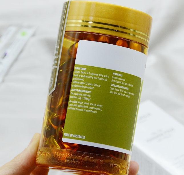 Free shipping super Lecithin 1200 mg 100 pcs