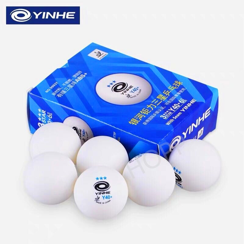 60 balls YINHE 3-star table tennis ball ABS 40+ new plastic ITTF Approved YINHE ping pong balls