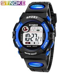 Synoke relógios crianças relógio de pulso digital led crianças meninos meninas estudantes relógio à prova dwaterproof água presente relojes montre enfant