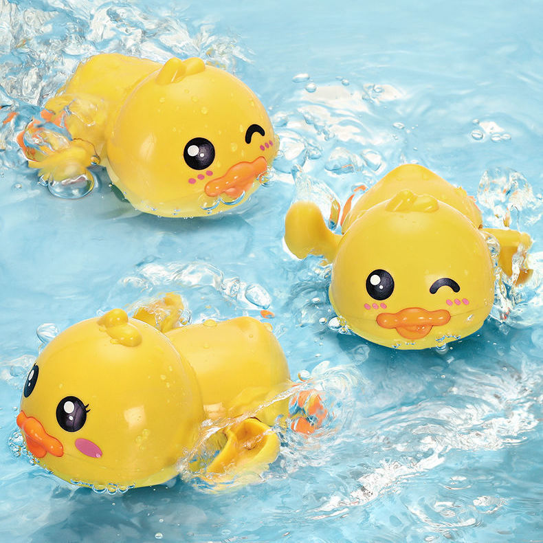 Baby Bath Toys Swimming Pool Water Game Clockwork Duck Toys Toddler Bath And Shower Gift Baby Bathtubs Interactive Toys For Kids baby bath toys duck clockwork educational toys swim bathing kids water swimming chain shower toy gift for newborn baby wholesale