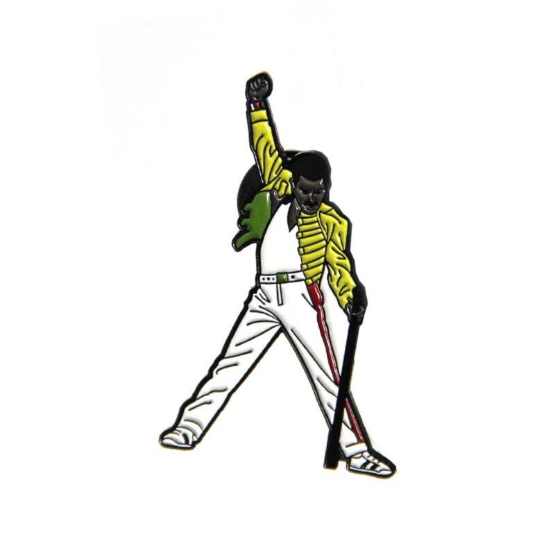 PIN de insignia de esmalte de Mercury del cantante de Queen Lead Brocch nostálgico Fan Jewerly regalo