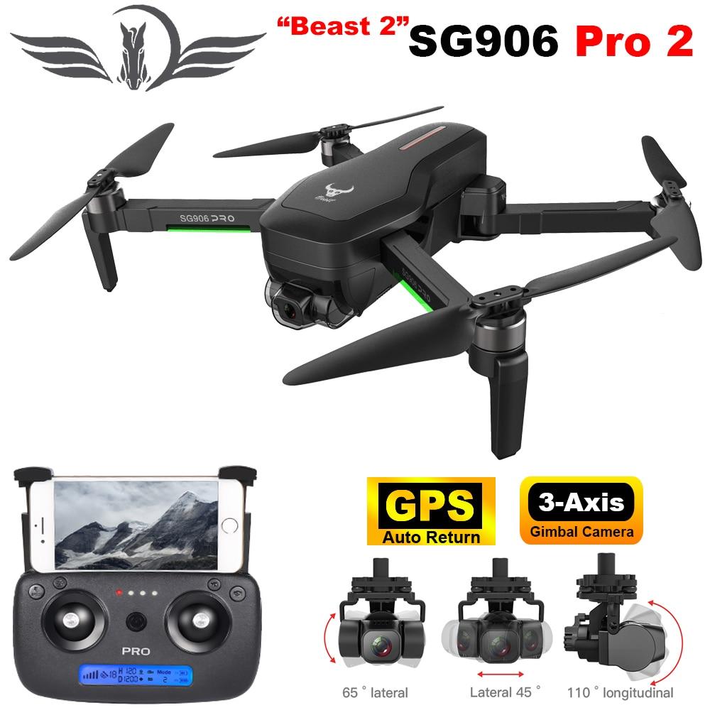 FEMA SG906PRO 2 Dron profesional con 4K 3-eje cardán cámara HD GPS 5G WiFi FPV RC Quadcopter Drone PK X12