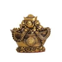 laojunlu copper yuanbao cornucopia lucky fortune treasure bowl piggy bank decoration crafts cornucopia large