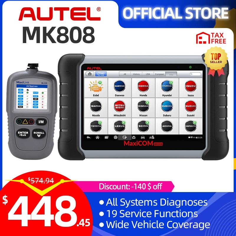 Autel MaxiCOM MK808 OBD2 الماسح الضوئي المهنية السيارات سيارة التشخيص أداة مسح ضوئي OBD 2 رمز القارئ ODB2 مفتاح الترميز IMMO PK MX808
