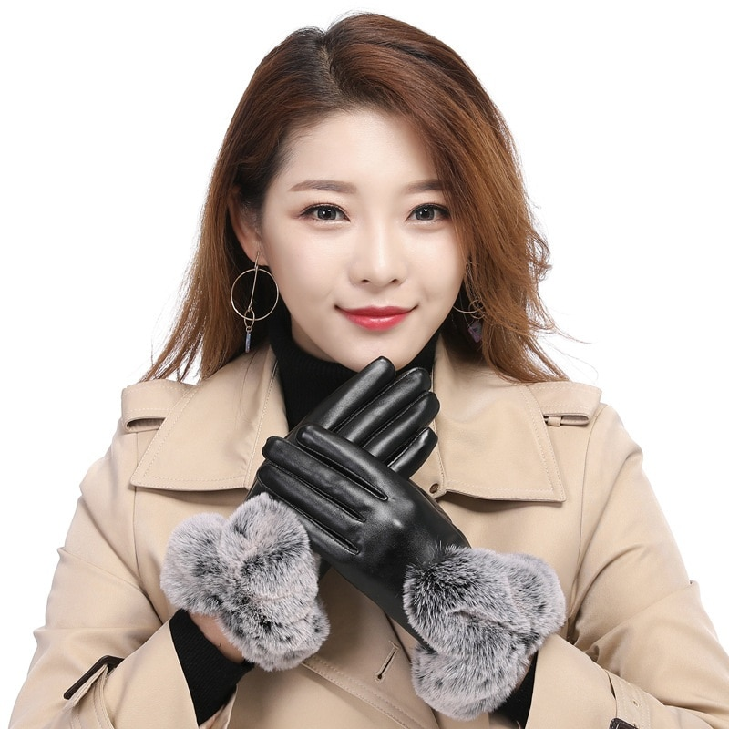 Женские перчатки, зимние перчатки для сенсорного экрана, зимние перчатки для женщин, зимние женские перчатки для сенсорного экрана, зимние ...