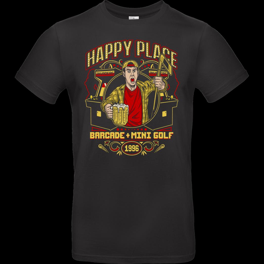Camisa preta engraçada do filme do esporte do hóquei do feliz gilmore da cerveja da arcada do lugar